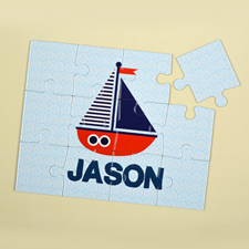 Ship Personalized Kids Puzzle