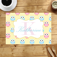 Personalized Owl Placemats