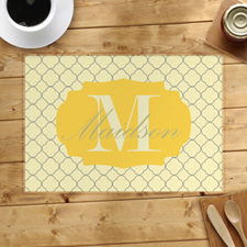 Personalized Lemon Clover Placemats