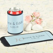 Aqua Wedding Personalized Can And Bottle Wrap