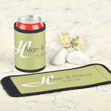 Lime Wedding Personalized Can And Bottle Wrap