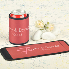 Red Wedding Personalized Can And Bottle Wrap