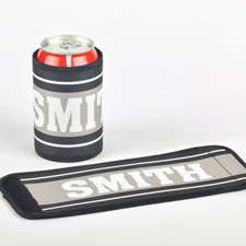 You Name It Personalized Can And Bottle Wrap, Grey