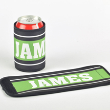 You Name It Personalized Can And Bottle Wrap, Green