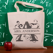 Personalized Initial A Tote Bag