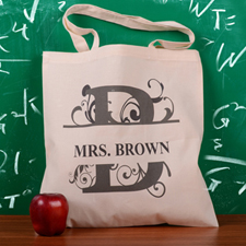 Personalized Initial B Tote Bag