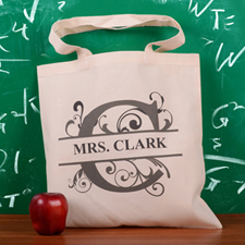 Personalized Initial C Tote Bag