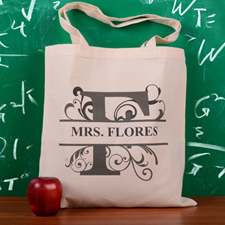 Personalized Initial F Tote Bag