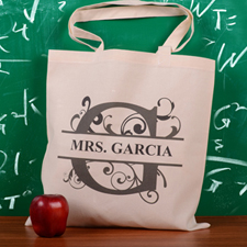 Personalized Initial G Tote Bag