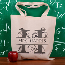 Personalized Initial H Tote Bag
