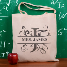 Personalized Initial J Tote Bag