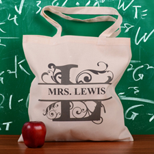 Personalized Initial L Tote Bag