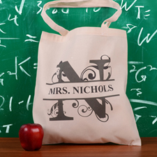 Personalized Initial N Tote Bag
