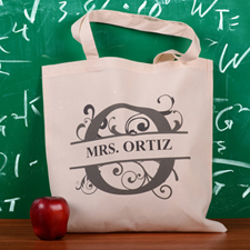 Personalized Initial O Tote Bag