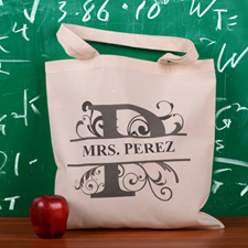 Personalized Initial P Tote Bag