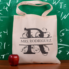 Personalized Initial R Tote Bag