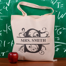 Personalized Initial S Tote Bag