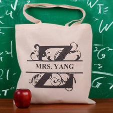 Personalized Initial Z Tote Bag