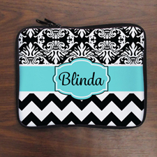 Chevron And Floral Personalized Ipad Air Sleeve