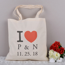 Personalized I Heart Tote Bag