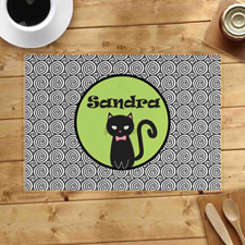 Personalized Halloween Cat Placemats