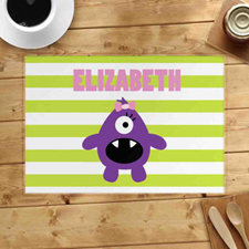 Personalized Monster Girl Placemats