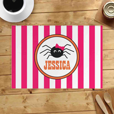 Personalized Halloween Spider Placemats