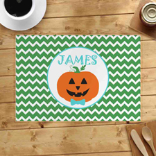 Personalized Pumpkin Boy Placemats