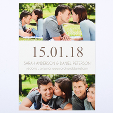 White Four Collage Personalized Save the Date