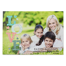 Love Glitter Easter Personalized Photo Card