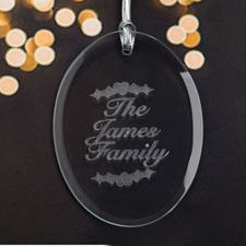 Personalized Laser Etched Christmas Blessings Glass Ornament