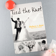 Tied The Knot Personalized Wedding Photo Magnet 4x6 Large