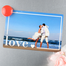 Love Personalized Wedding Magnet 4x6 Large