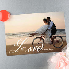 Script Love Personalized Wedding Magnet 4x6 Large