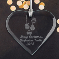 Personalized Engraved Ornaments Heart Shaped Ornament