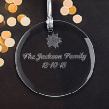 Personalized Engraving My Star Round Glass Ornament