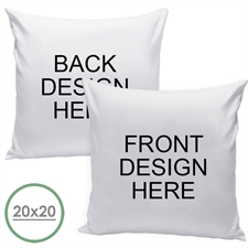 18 X 18 Custom Design Front And Back Pillow  Cushion (No Insert)