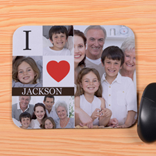 Personalized I Heart Mouse Pad