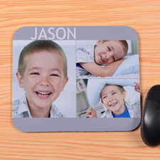 Create Your Own Grey 3 Collage Mouse Pad