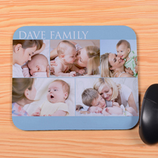 Create Your Own Aqua Five Collage Mouse Pad