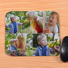 Create Your Own White Five Collage Mouse Pad