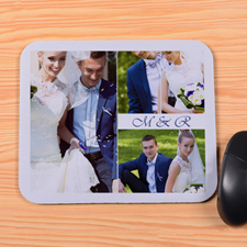Create Your Own White Four Collage Mouse Pad