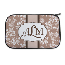 Personalized Neoprene Classic Floral Cosmetic Bag (6 X 10 Inch)