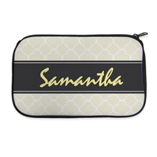 Personalized Neoprene Clovers Cosmetic Bag (6 X 10 Inch)