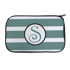 Personalized Neoprene Stripes Cosmetic Bag (6 X 10 Inch)