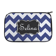 Personalized Neoprene Monogrammed Chevron Cosmetic Bag (6 X 10 Inch)
