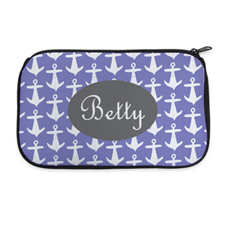 Personalized Neoprene Anchor Cosmetic Bag (6 X 10 Inch)
