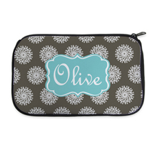 Personalized Neoprene Flower Cosmetic Bag (6 X 10 Inch)