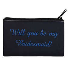 Personalized Will You Be My Bridesmaid? Cosmetic Bag (4