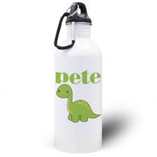 Personalized Photo Dinosaur Water Bottle